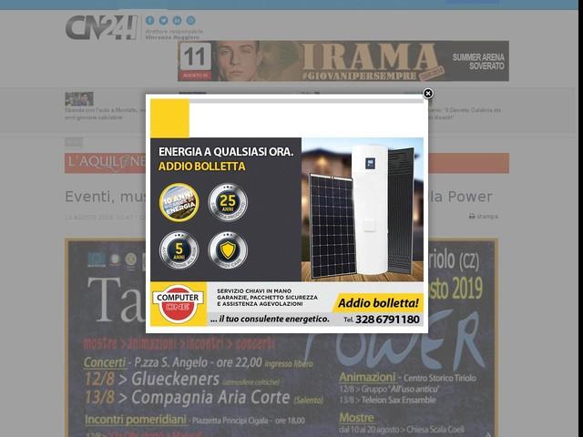 Eventi, musica e tradizioni a Tiriolo per il Tarantella Power