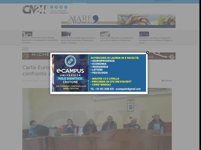 Carta Europea del Turismo Sostenibile: incontro e confronto a Cotronei