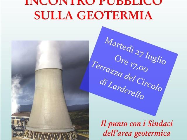 Geotermia, indetto un incontro pubblico a Larderello: al centro il rinnovo delle concessioni