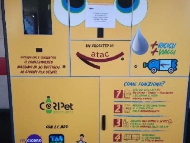 Roma, vandalizzata macchinetta mangia plastica a Anagnina