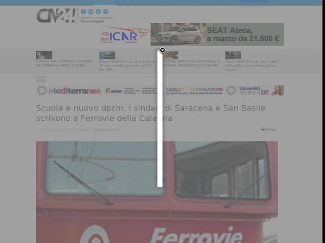 Scuola e nuovo dpcm. I sindaci di Saracena e San Basile scrivono a Ferrovie della Calabria