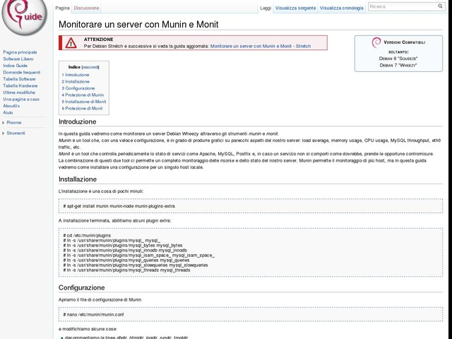 Monitorare un server con Munin e Monit