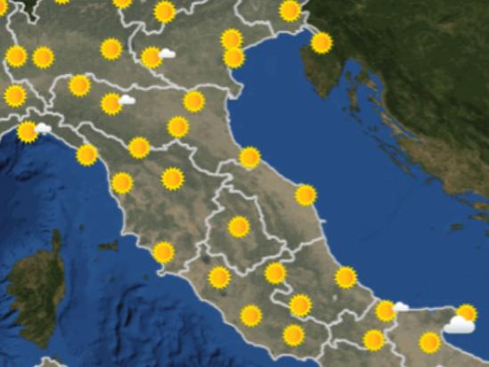 Le previsioni meteo per domani, venerdì 13 settembre