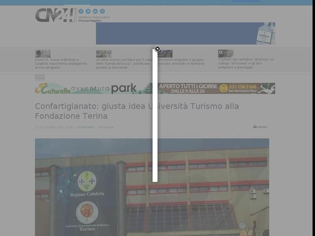 Confartigianato: giusta idea Università Turismo alla Fondazione Terina