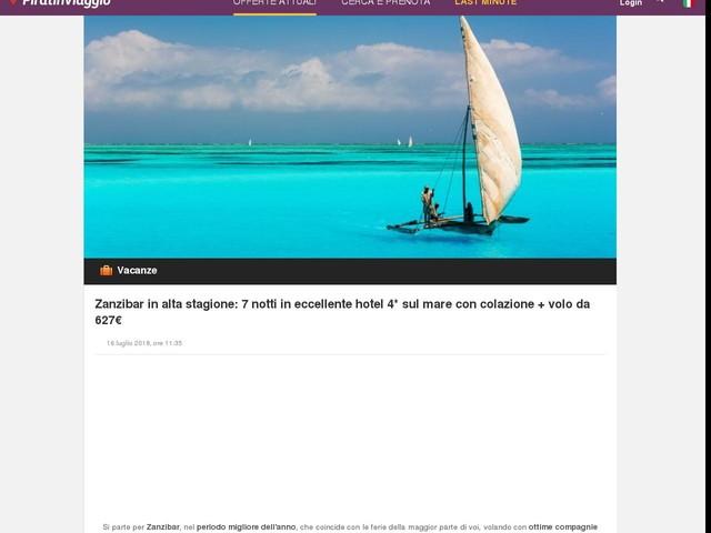 Zanzibar in alta stagione: 7 notti in eccellente hotel 4* sul mare con colazione + volo da 627€