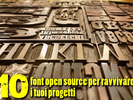 10 font open source per ravvivare i tuoi progetti - Web Apps Magazine
