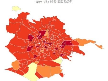 """Covid Roma, la mappa delle nuove """"zone rosse"""": 4mila casi in 7 giorni. Boom a Tor Sapienza (+108%) e Tiburtino (+57,6%)"""