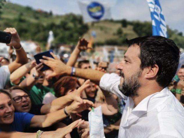 Matteo Salvini e la Pontida dell'Italia «che vincerà»