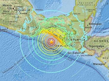 Forte scossa di terremoto magnitudo 7,2 nel Sudovest del Messico