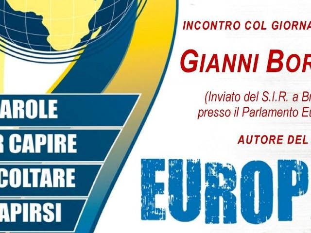 """A Macerata il giornalista Gianni Borsa racconta il """"sogno"""" dell'Europa"""
