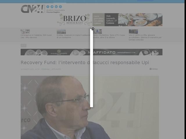 Recovery Fund: l'intervento di Iacucci responsabile Upi