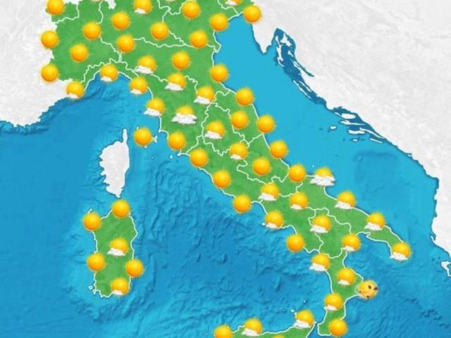 Ultimi disturbi al Sud e Adriatico, weekend soleggiato e più mite per tutti