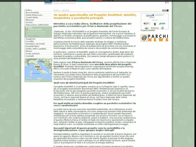 PN Circeo - Un quadro approfondito sul Progetto DestiMed: obiettivi, tempistiche e peculiarità principali.