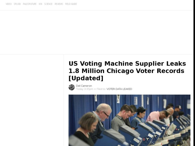 US Voting Machine Supplier Leaks 1.8 Million Chicago Voter Records [Updated]