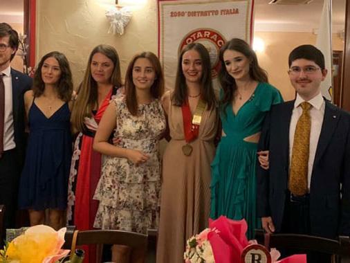 Rotaract CVS, passaggio di consegne dopo due anni: da Clara Maffezzoli a Elena Bocchi
