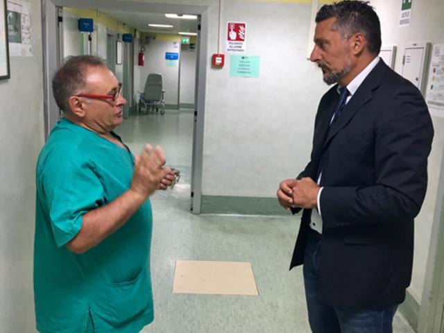 Giulianova, sopralluogo di Mercante al Pronto Soccorso dell'Ospedale