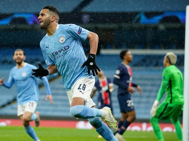 Il City vola in finale di Champions: decide una doppietta di Mahrez, Psg ko
