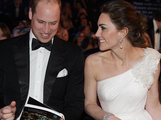Kate Middleton in bianco ai BAFTA 2019