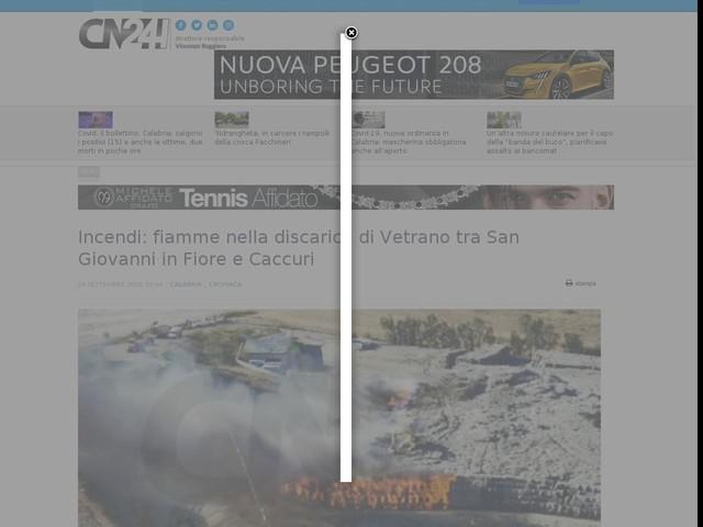 Incendi: fiamme nella discarica di Vetrano tra San Giovanni in Fiore e Caccuri