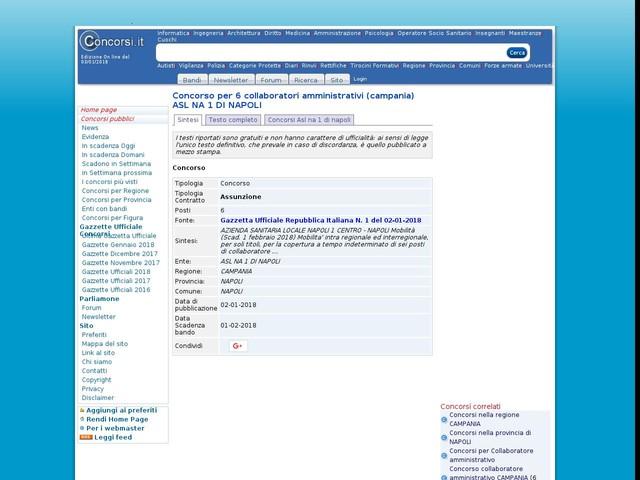 Collaboratore amministrativo - NAPOLI - 6 posti