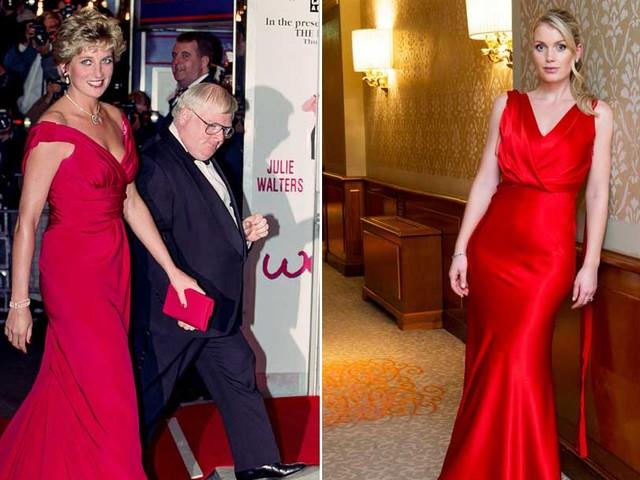 Il royal look del giorno: Lady Kitty Spencer in rosso come la zia Lady D
