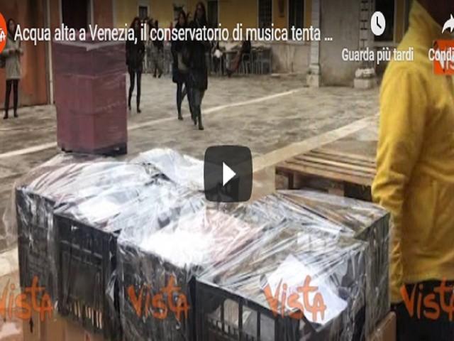 Venezia, il conservatorio di musica tenta di mettere in salvo le partiture VIDEO