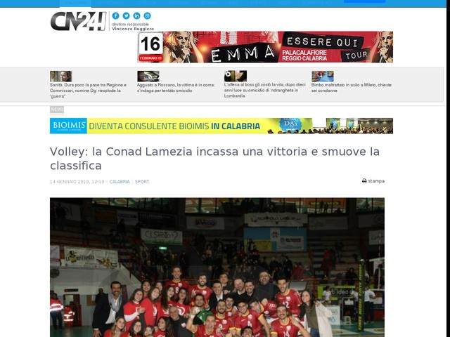 Volley: la Conad Lamezia incassa una vittoria e smuove la classifica