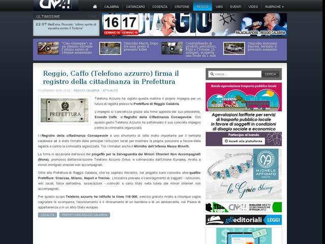Reggio, Caffo (Telefono azzurro) firma il registro della cittadinanza in Prefettura