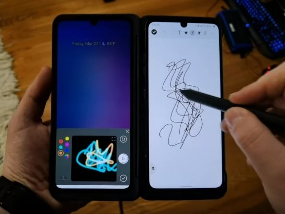 LG V60 ThinQ 5G supporta le penne Active Stylus anche in Dual Screen