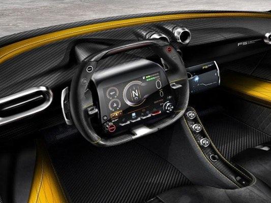 """Hennessey Venom F5: ecco il volante """"digitale"""""""