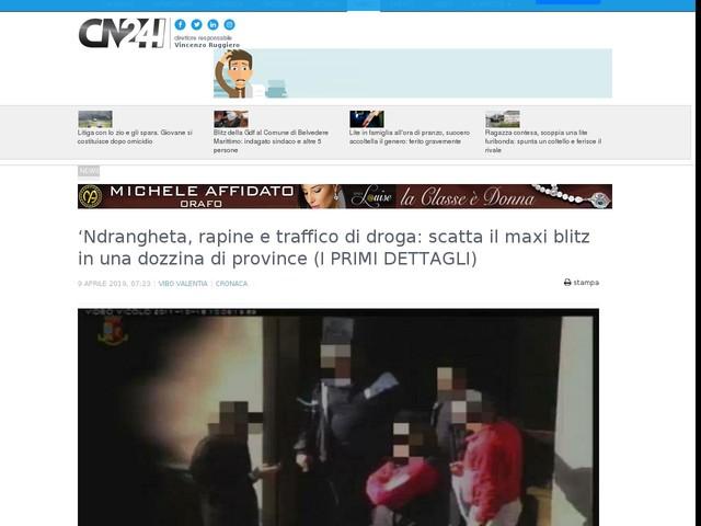 'Ndrangheta, rapine e traffico di droga: scatta il maxi blitz in una dozzina di province (I PRIMI DETTAGLI)