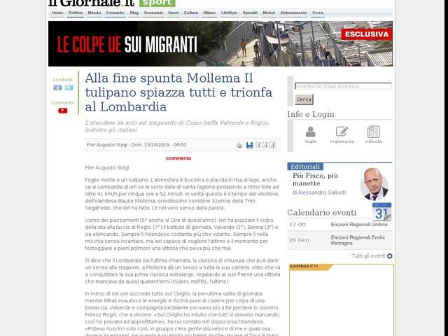 Alla fine spunta Mollema Il tulipano spiazza tutti e trionfa al Lombardia