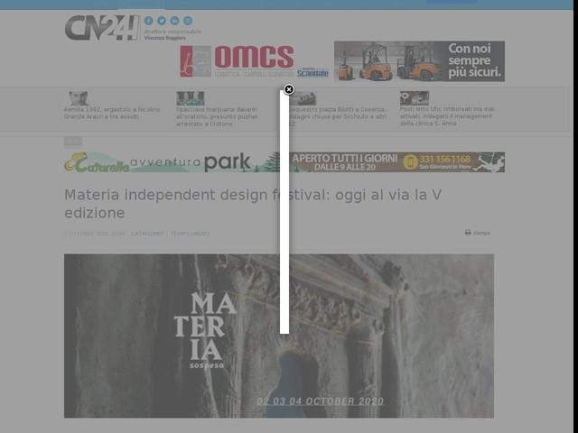 Materia independent design festival: oggi al via la V edizione