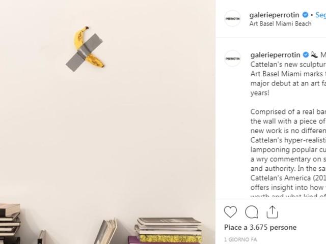 Maurizio Cattelan/ Una banana appesa al muro con lo scotch è la sua ultima opera