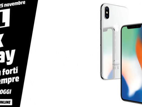 Prezzo iPhone X impareggiabile con il Black Friday Mediaworld il 20 novembre: Apple lancia i suoi sconti