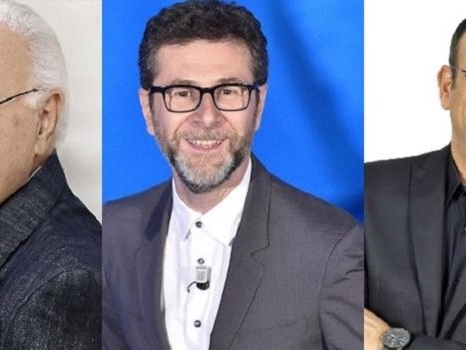 Baudo, Fazio e Conti tra gli ospiti di Sanremo 2018? Il trio di conduttori all'Ariston dopo gli spot con Claudio Baglioni