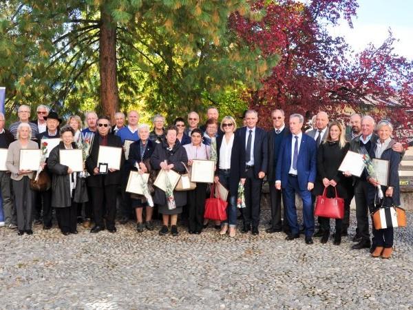 Le Aquile dell'Associazione 50&Più: sono 33 i nuovi Maestri del Commercio del Trentino.