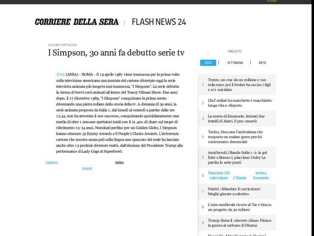 I Simpson, 30 anni fa debutto serie tv