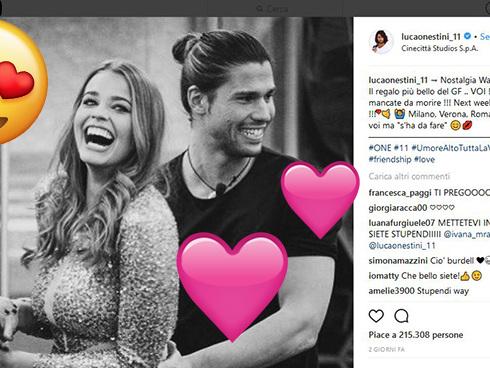 Luca e Ivana, GF Vip 2: stanno insieme? I primi indizi social e la dedica nostalgica di Onestini