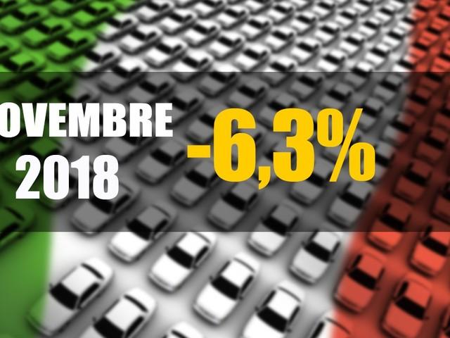 Mercato Italia - Novembre, immatricolazioni ancora in calo: -6,3%