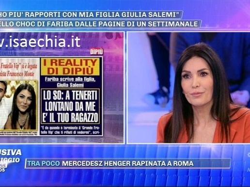"""'Gf Vip 3', Fariba Tehrani rivela: """"Da quando mia figlia Giulia Salemi è uscita dalla Casa il nostro rapporto si è spezzato!"""". E su Francesco Monte…"""