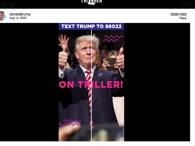 Nella guerra contro TikTok, Trump si schiera con il competitor Triller