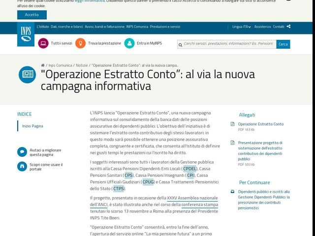 """""""Operazione Estratto Conto"""": al via la nuova campagna informativa"""