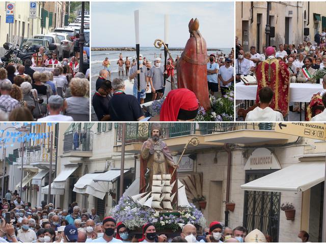 Arma di Taggia: mare agitato per Sant'Erasmo, i festeggiamenti svolti sulla terra ferma (Foto e video)