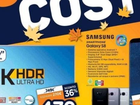 Anticipazioni sul volantino Unieuro con Samsung Galaxy S8, iPhone 8 e P10 Lite a prezzo favorevole