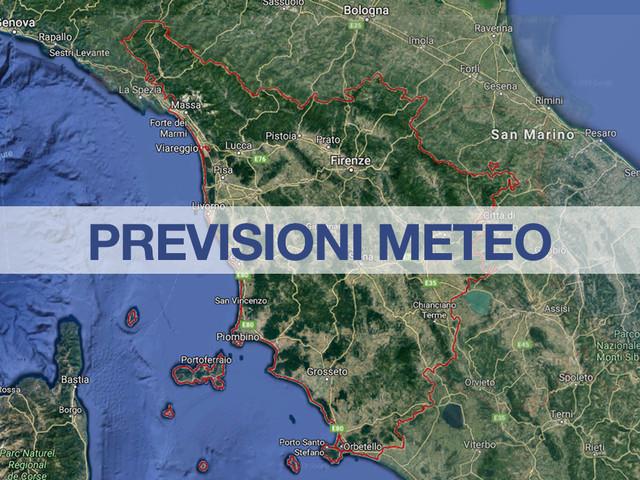 Previsioni Meteo Toscana: domani piogge e rovesci sparsi, neve in Appennino