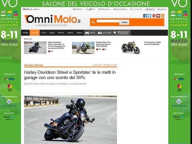 Harley-Davidson Street e Sportster: te le metti in garage con uno sconto del 50%