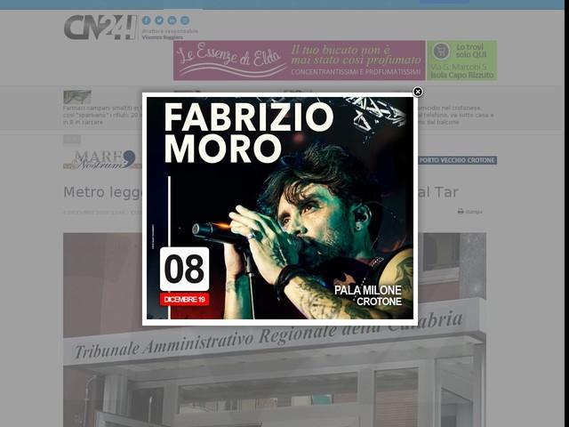Metro leggera Cosenza-Rende-Unical: via libera dal Tar