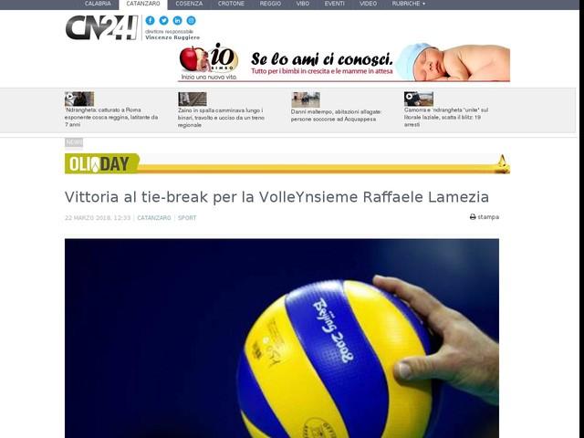 Vittoria al tie-break per la VolleYnsieme Raffaele Lamezia