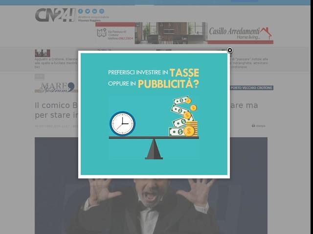 """Il comico Battista al Cilea: """"Non vengo per insegnare ma per stare insieme al pubblico"""""""